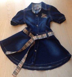 Джинсовое платье 74-80