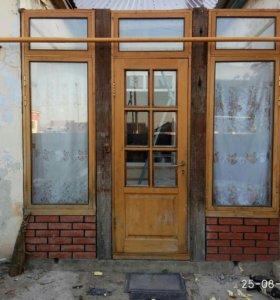 Дверь и окна для веранды