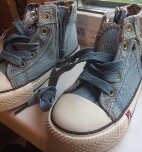 Кеды джинсовые