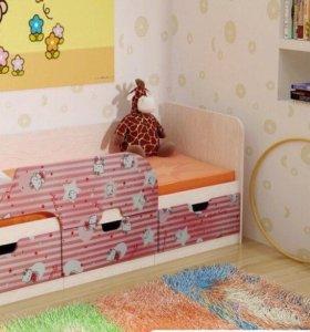 """Кровать детская розовая """"Hello, Kitty"""""""