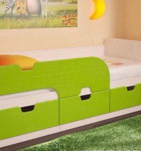"""Кровать детская """"Минима «Лайм»"""""""