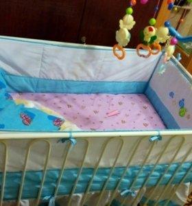 Детская кроватка для мальчика