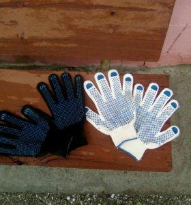 Рукавицы и перчатки х/б