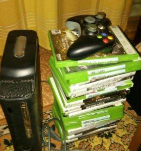 XBOX 360 120Gb + 24 игры