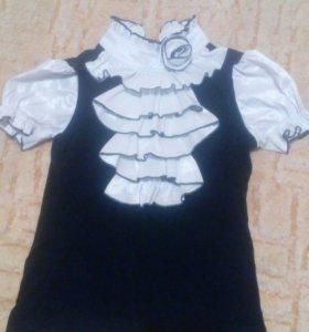 Школьный сарафан,блузка