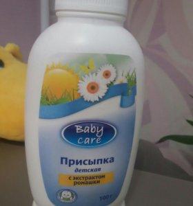 Детская присыпка baby care 100гр