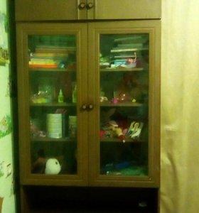 Книжный шкаф с андресолем.