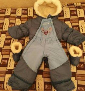 Детский комбинизон с валеночками на нат. меху