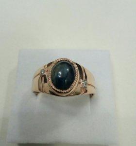 Перстень мужской с сапфиром и бриллиантами