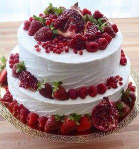Торты фруктово-ягодные на заказ