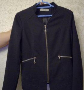 Пиджак черный, размер 46-48