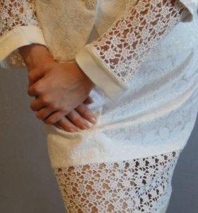 Вечерний комплект - юбка + пиджачок. Новый