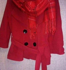 Пальто, шарф, перчатки