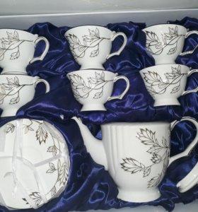 Новый чайный сервиз на 6 персон 14 предметов