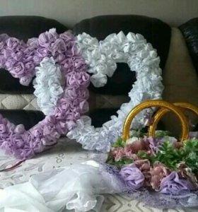 Свадебное украшение на машину (набор)