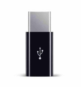 Переходник Olaudem micro-USB - Type-C Black