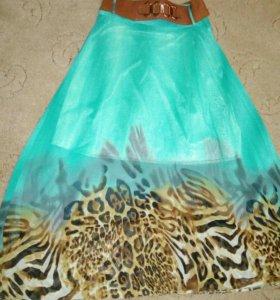 Красивая шифоновая юбка с подкладкой