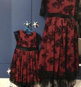 Платья на маму и дочку