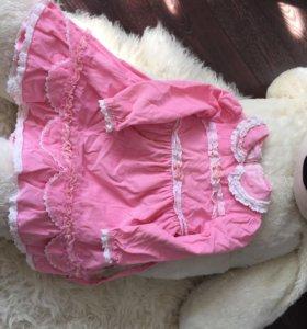Розовое платье на девочку 3/4х лет