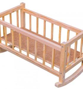 Игрушечная кроватка-качалка для кукол