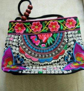Новая детская сумочка с вышивкой