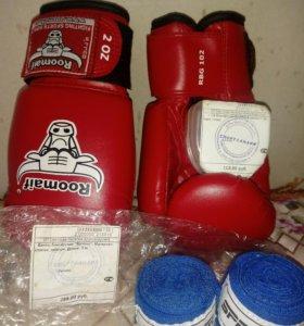 Боксерские перчатки, бинты боксерские,капа боксерс