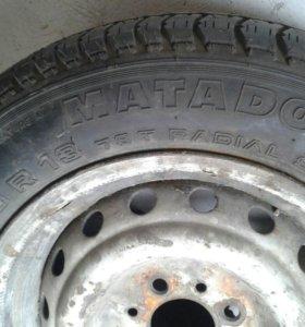 Колесо в сборе шина новая165 70 13
