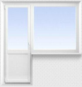 Балконный блок: дверь222*72окно135*135