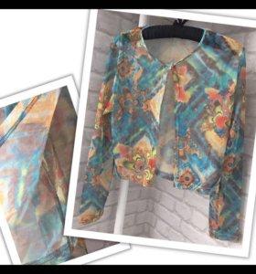 Кофта сетка распошенка женская накидка блуза