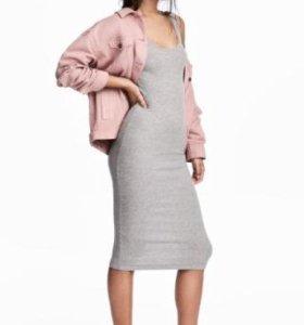 Новое трикотажное платье hm