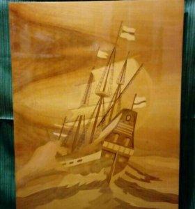 Картины интарсия(инкрустация деревом по дереву)79г