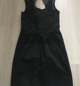 Чёрное мини платье 40-42 р