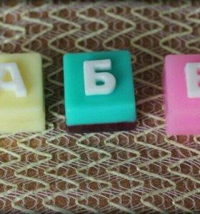 Мыло буквы
