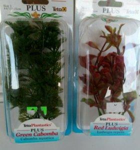 Декорации растения пластиковые, грунт