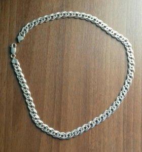Мужская серебреная цепь