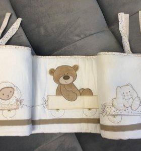 Бортики Mothercare для детской кроватки