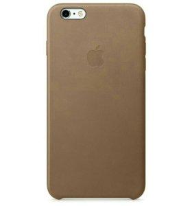 Чехол для iPhone 6+/6S+, кожаный, коричневый
