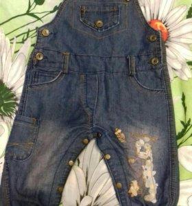 Комбинезон джинсовый 6-12мес
