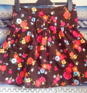 Вельветовая юбка на 12-13 лет