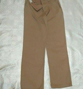 Продам летние брюки бежевого цвета рост 140-146