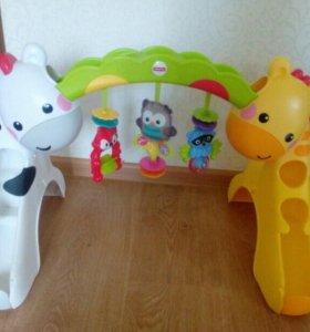 Музыкальная горка с игрушками