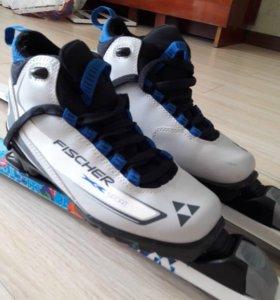 Лыжи беговые с ботинками