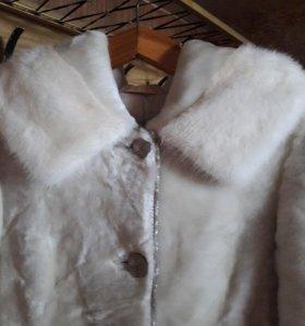 Шуба из меха мутон (овчина) размер 46-48