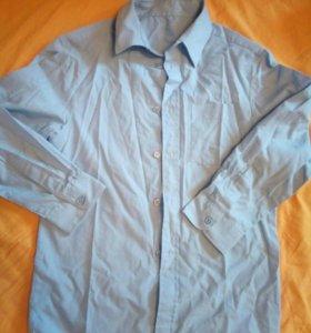 Рубашка школьная на 8-9 лет