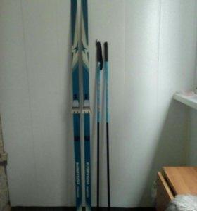 Комплект лыжи с палками