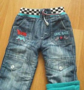 джинсы на флисе