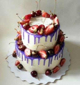 Торты, капкейки,десерты в стаканчике на заказ