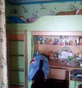Кровать-чердак Мишутка