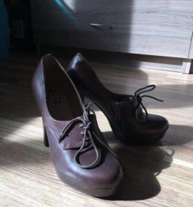 Туфли кожаные, 35й размер