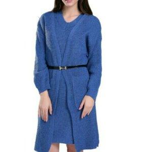 Новый комплект платье и кардиган